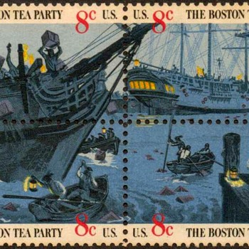 "1973 - ""Boston Tea Party"" Postage Stamps (US)"