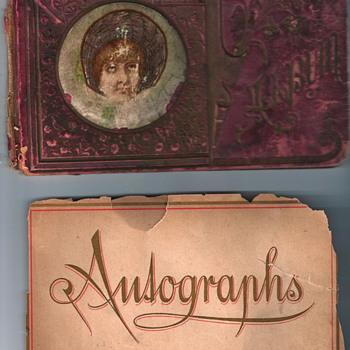 Grandpa's Autograph Book, c. 1888 - Books