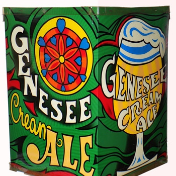 1960s Genesee Cream Ale Lighted Sign Psychedelic Era Hanging Lamp  - Advertising