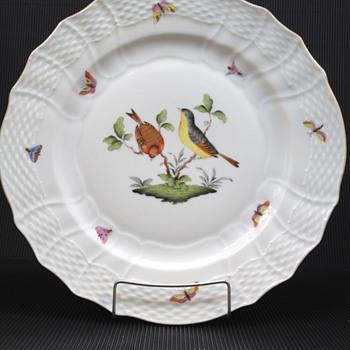 HEREND ROTHSCHILD BIRD SERVICE PLATE MOTIF #7 - China and Dinnerware