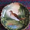 L. Sazaret & Sons Antique Austrian Handpainted Bird Plate Signed Poivrier