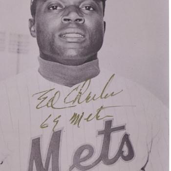 Autographed photo - Baseball