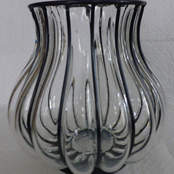 Caged vase nationality? - Art Glass
