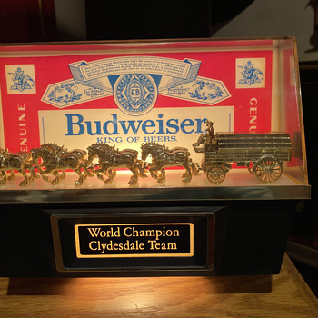 Budweiser Clydesdale display  - Breweriana