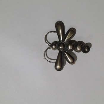 My favorite Butterfly pin marked T.Yazzie Sterling  - Native American