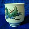 Hand painted Japanese porcelain meoto yunomi pair