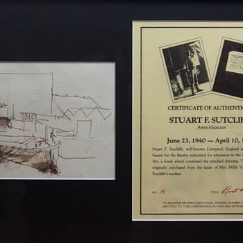 Stu Sutcliffe sketches - 1957 - Music Memorabilia
