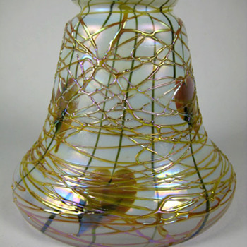 Fostoria Glass Specialty Co. IRIS shade - Art Glass