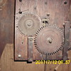 Old wooden clock works