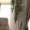 Vintage? Green glass hanging lamp
