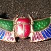 Egyptian Revival Enamel Pin