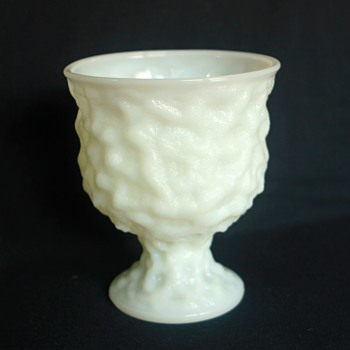 E.O. Brody Co. Cleveland Milk Glass (M3000) Crinkle Glass Planter Urn