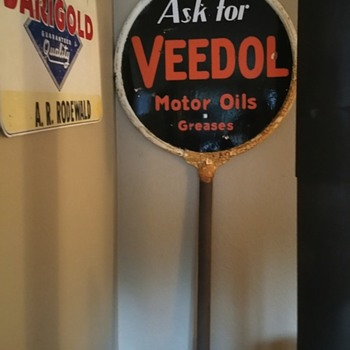 VEEDOL LOLLIPOP SIGN  - Signs