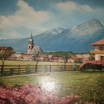 Austrian painting unknown artist please help with info. - Fine Art