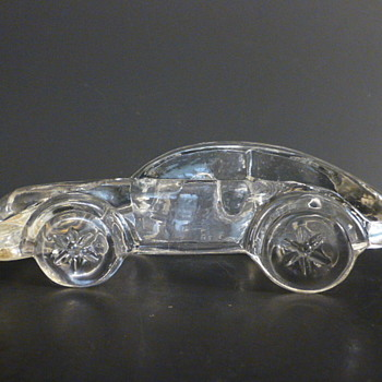 Glass porsche paperweight - Art Glass