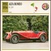 Vintage Car Card - Alfa Romeo 2300