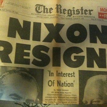 The Register Nixon Resigns