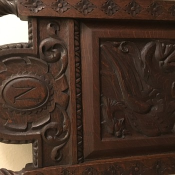 Hand carved with beautiful dragon image