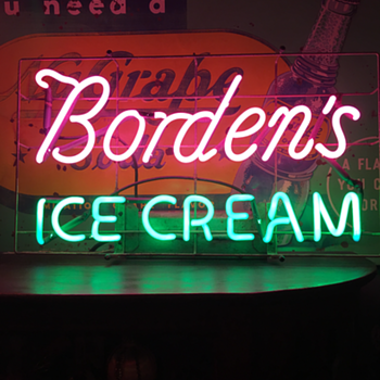 Borden's Ice Cream neon sign - Signs