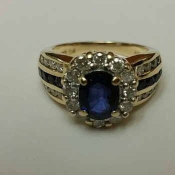 Princes Diana Inspired Diamond & Sapphire Ring