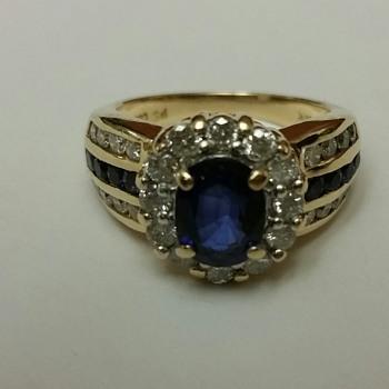 Princes Diana Inspired Diamond & Sapphire Ring - Fine Jewelry