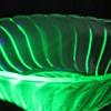 Bagley Art Deco Uranium Glass Bowl