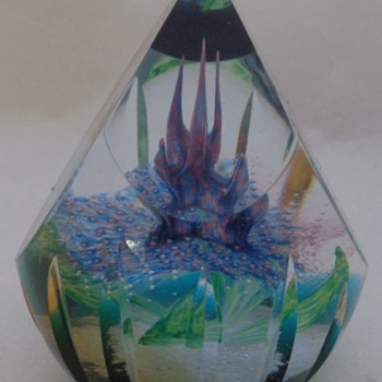 Aztec Rainflower Alastair MacIntosh  Caithness Glass Paperweight - Art Glass