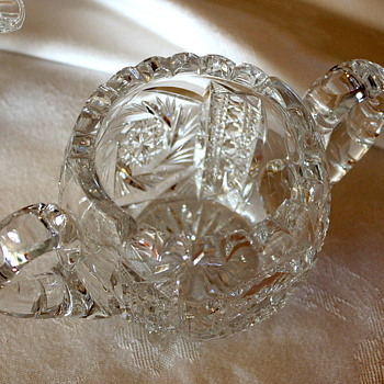 Crystal Sugar, Creamer and Oil and Vinegar Thing (sorry brain's not connecting) - Glassware