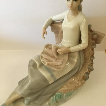 Any idea what company produced this porcelain figurine? - Figurines