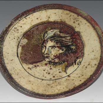 Faience Plate by Henry Varnum Poor, 1966. - Pottery