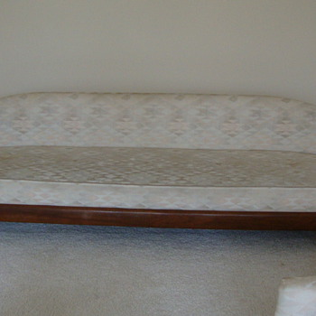 Vintage Mid Century Sofa Hollywood Style American Barrel Back Couch - Furniture