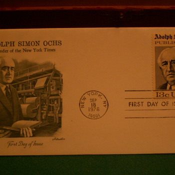 1976 Adolph Simon Ochs 13¢ First Day Of Issue Envelope & Stamp