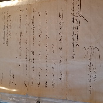 Civil War Orders Signed by Joseph Eggleston Johnston - Military and Wartime