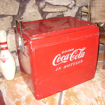 50s all original coca cola hinged cooler - Coca-Cola