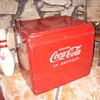 50s all original coca cola hinged cooler