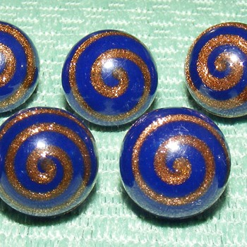 "Glass Waistcoat Ball Buttons - 1/2"" - Sewing"