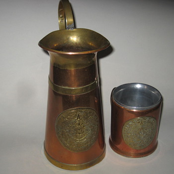 Copper Pitcher, Cup, and Tray - Kitchen