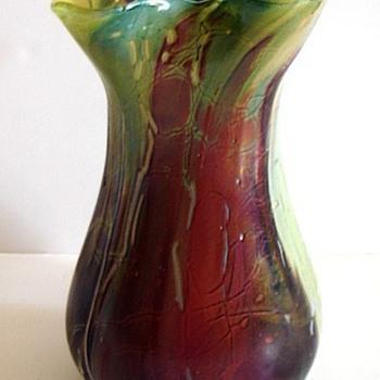 Poschinger Hekla Style Vase - Art Glass