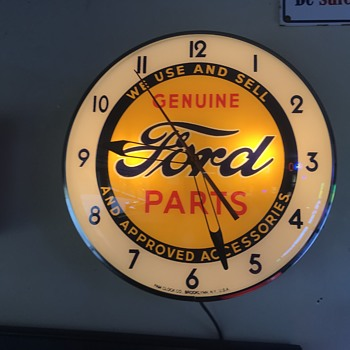 Ford genuine parts clock / Pam  - Advertising