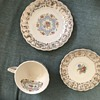 Coffee cup and saucers