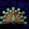 Turquoise and Enamel Peacock