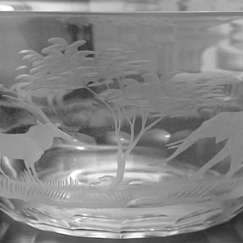 Queen Lace Crystal Kenyan Wildlife - Glassware
