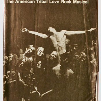 HAIR (the musical) - Aquarius Theater program - Paper