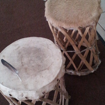 Handcrafted Drum and Stool