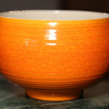 Beautiful Orange Mid-century Console Bowl by Haeger - Pottery