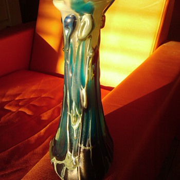 GENE POLT CANDLESTICK - WESTERN AUSTRALIA. - Art Glass