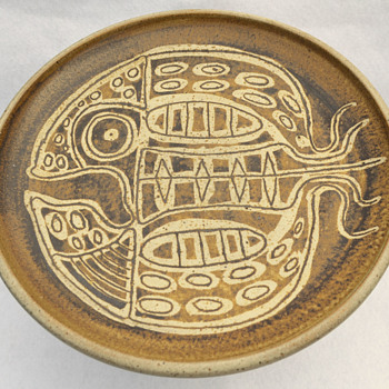 Frank Willett pedestal plate - Pottery
