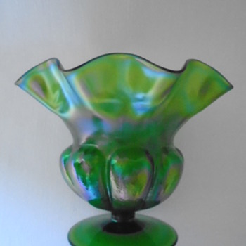 Art Nouveau Iridescent Vase - Art Glass