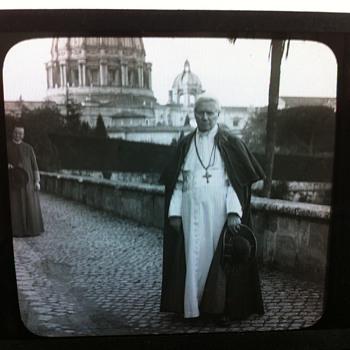 Glass Photo Negative of Pope Pius X - Photographs