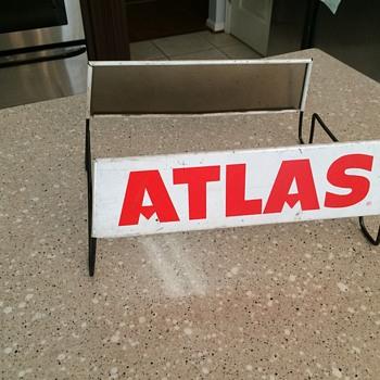 1950's ATLAS tire stand. - Petroliana